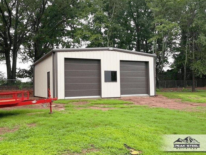 30x40 steel building metal garage plans peak steel for Pacchetto garage 30x40