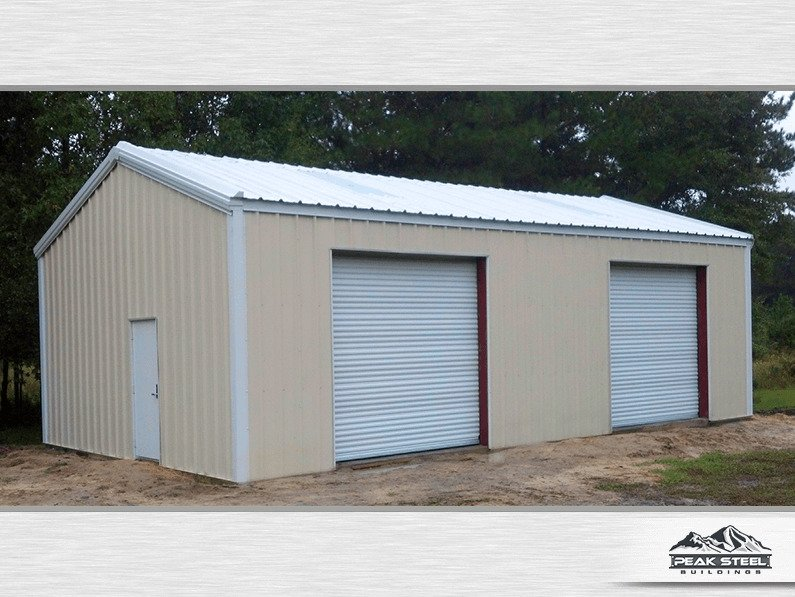 30x40 Steel Building Metal Garage Plans Peak Steel